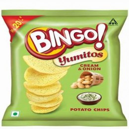 Bingo - Yumitos Cream & Onion Potato Chips