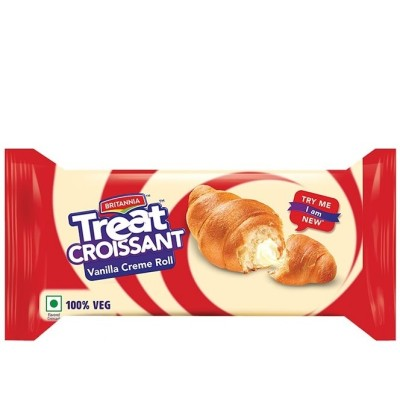 Britannia - Treat Croissant Vanilla Cream Roll 45 gm Pouch