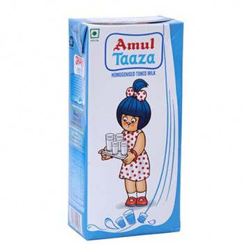 Amul - Taaza Homogenised Toned Milk