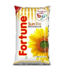 Fortune - Sunlite Refined Sunflower Oil 1 ltr Pouch