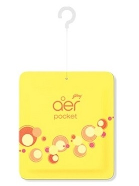 Pocket Bathroom Air Freshner - Bright Tangy