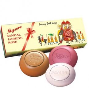 Mysore - Sandal, Jasmine, Rose Bathing Soap (Pack of 3)