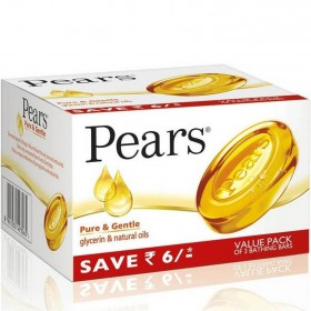 Pears - Pure & Gentle Soap (Pack of 3) 125 gm Carton