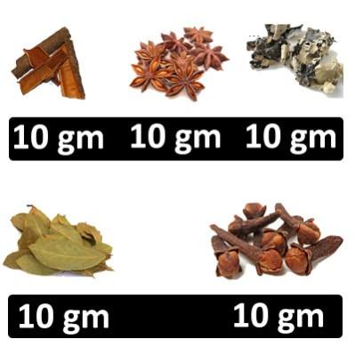 HF COMBO - Rogers - Pattai + Dry Aniseeds Star (Annasi Poo) + Kalpasi + Bay Leaf (Briyani Leaves) + Clove (Grambu)