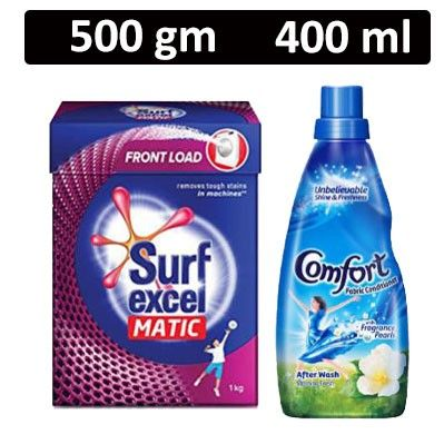 HF COMBO - Surf Excel - Matic Top Load Detergent Powder + Comfort - Fabric Conditioner After Wash Morning Fresh