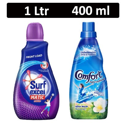 HF COMBO - Surf excel - Matic Liquid Front Load + Comfort - Fabric Conditioner After Wash Morning Fresh